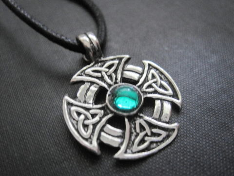 Celtic,Iron,Cross,Cord,Necklace,Celtic Iron Cross Cord Necklace, celtic jewelry, iron cross, celtic cross, triquetra
