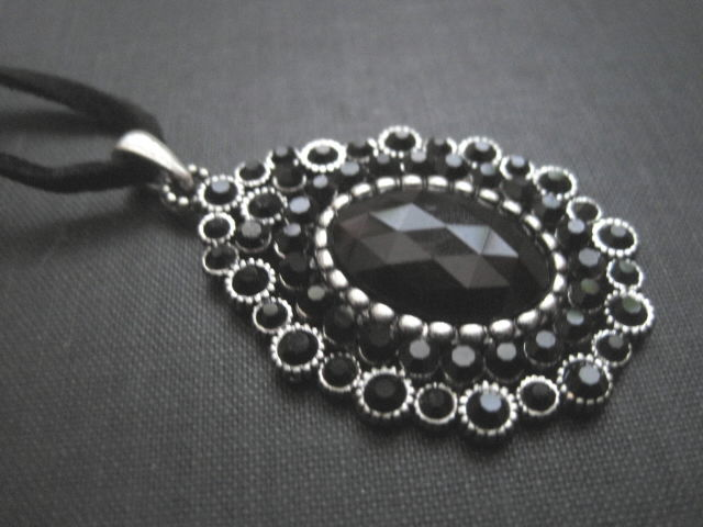 Gothic Victorian Black Stone Choker - product images  of