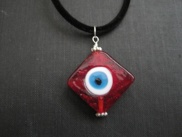 Red Evil Eye Choker Necklace - product images  of