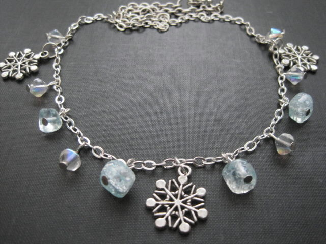 Winter Snowflake Charm Necklace - product images  of