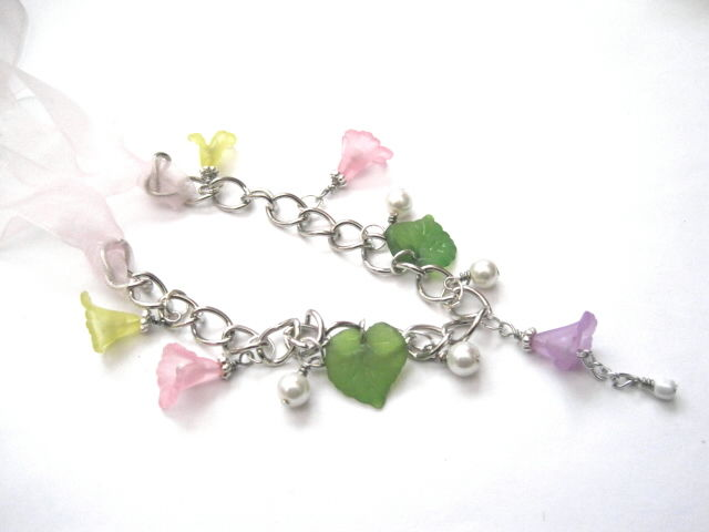 Romantic Floral Charm Necklace - product images  of