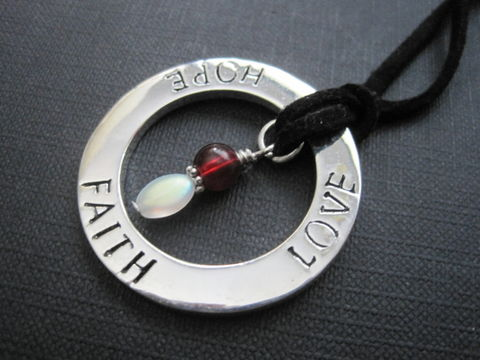 Love,Faith,Hope,Expressions,Circle,Necklace,Love Faith Hope Expressions Circle Necklace, love, faith, hope, circle, necklace, expressions, inspiration necklace, sentiments, ring, corded necklace, handmade jewelry