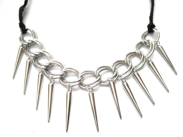 Gothic Vampire Spike Choker Collar Necklace, Vamp Choker - product images  of