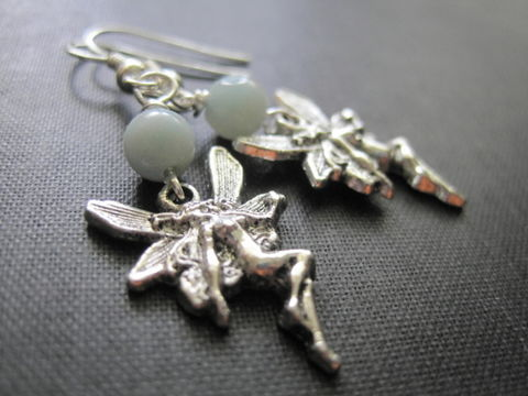 Fairy,Amazonite,Dangle,Earrings,Fairy Amazonite Dangle Earrings