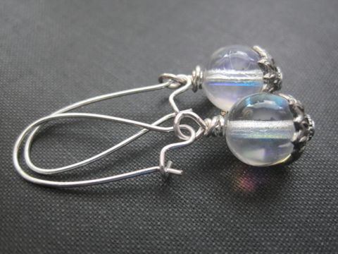 Crystal,Ball,Dangle,Earrings,Crystal Ball Dangle Earrings