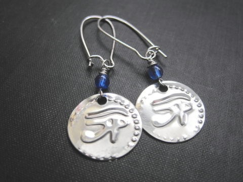 Eye,of,Horus,Dangle,Earrings,Eye of Horus Dangle Earrings