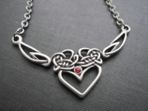 Celtic,Heart,Necklace,Celtic Heart Necklace, romantic, valentine's day, love, pewter, eternal love