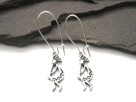 Kokopelli,Dangle,Earrings,Kokopelli Dangle Earrings