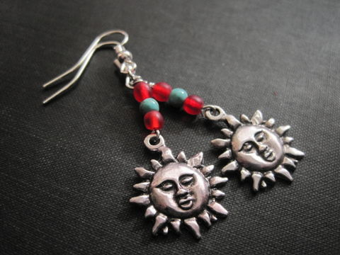 Sun,Southwestern,Dangle,Earrings,Sun Southwestern Dangle Earrings
