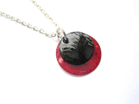 Lunar,Eclipse,Necklace,,Moon,Necklace,lunar eclipse necklace, handmade jewelry, moon eclipse necklace, moon, eclipse, necklace, white, blue, red, chain, silver, vamps jewelry