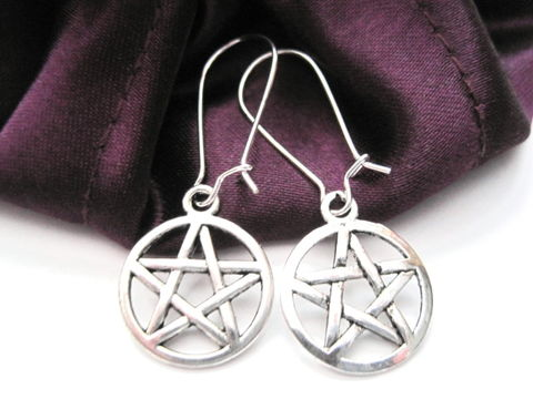 Pentacle,Dangle,Earrings,,Mystic,Pentagram,Earrings,Pentacle Dangle Earrings, Mystic Pentagram Earrings