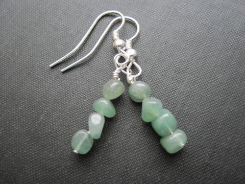 Green,Aventurine,Gemstone,Nugget,Dangle,Earrings,green, aventurine, gemstone, nugget, gemstone earrings, aventurine earrings, vamps jewelry, wire wrapped earrings, handmade, green dangle earrings