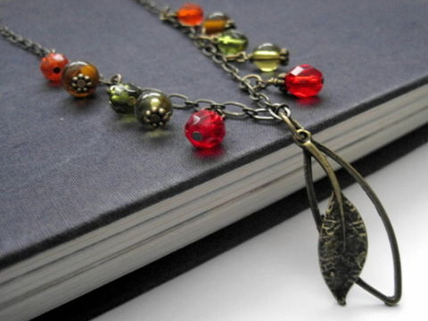 Autumn,Leaves,Ramble,On,Necklace,Fall,Leaf,Leaf Necklace, Autumn Leaves, Fall Necklace, Ramble On Necklace, Autumn colors necklace