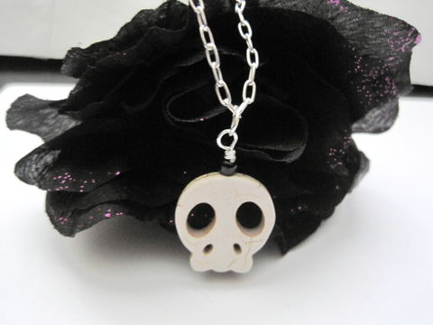 White,Howlite,Big,Skull,Necklace,,Gothic,Punk,white, howlite, skull, necklace, gothic, punk, gothic jewelry, punk rock, vamps jewelry, skull necklace, white skull necklace, howlite skull necklace, halloween, day of the dead necklace, dia de los muertos