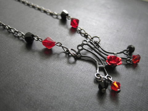 Gothic,Black,Corset,Crystal,Necklace,,Gunmetal,Gothic Black Corset Crystal Necklace, gothic, corset, Mistress corset necklace, black, red, gunmetal, vamps jewelry, fetish, handmade, gothic necklace, gothic jewelry, corset necklace, fetish corset necklace