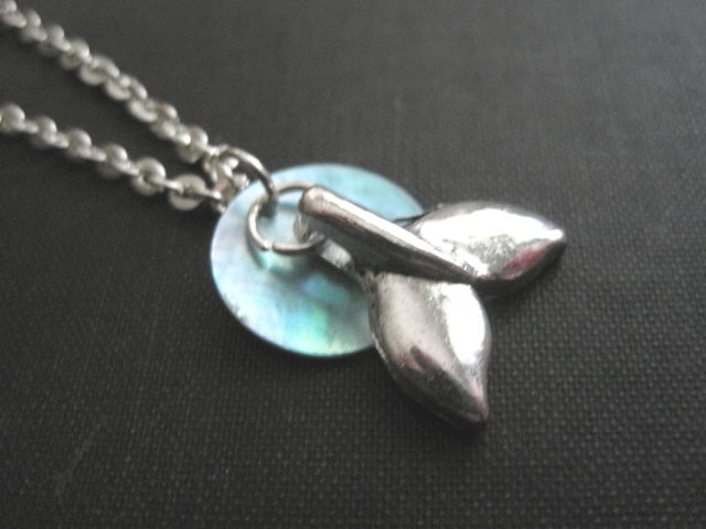 Dolphin Tail Ocean Necklace  - product images  of