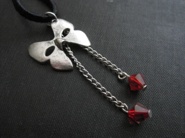Masquerade Mask Cord Goth Necklace  - product images  of