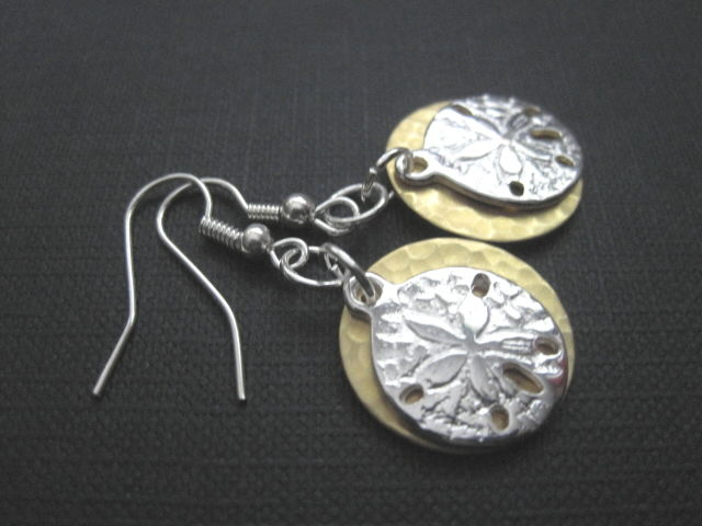 Sand Dollar Dangle Earrings  - product images  of