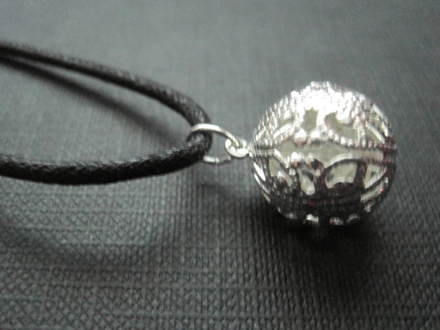 Filigree Silver Ball Choker Necklace - product images  of