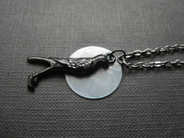 The Crow Moon Gothic Necklace  - product images  of