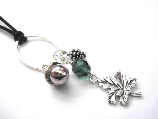 Forest Woodland Leaf Cord Necklace - product images  of