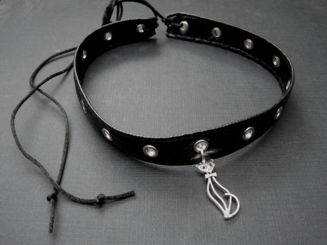 Gothic Kitty Cat Collar Choker Catwoman Choker - product images  of