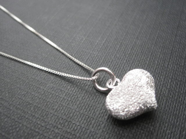 Sterling Silver Petite Pave Heart Necklace - product images  of