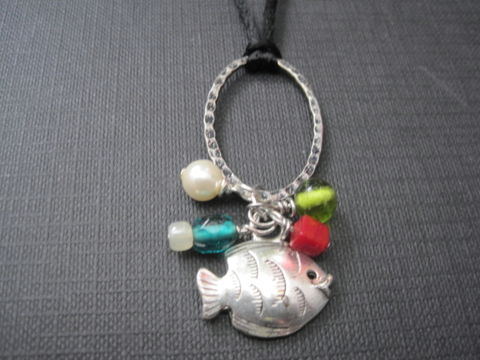 Fish,Under,The,Sea,Cord,Necklace,Fish Under The Sea Cord Necklace, pearl, charm necklace
