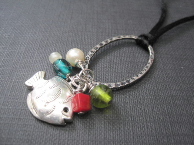 Fish Under The Sea Cord Necklace - product images  of