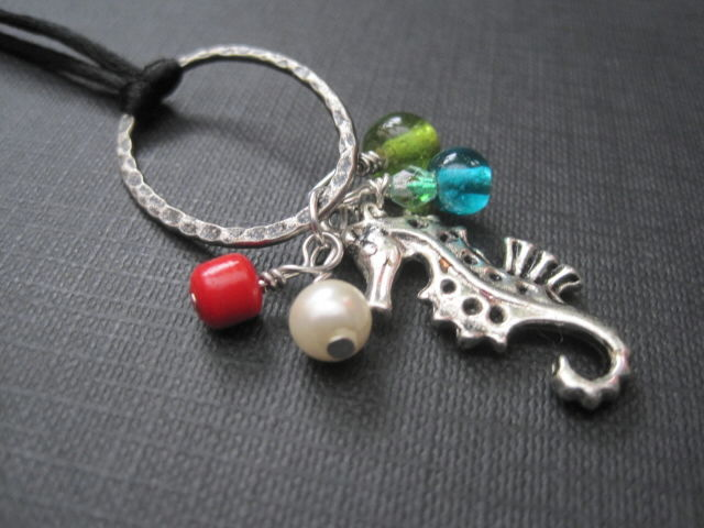 Seahorse Under The Sea Cord Necklace - product images  of