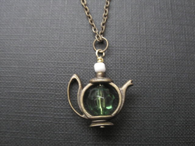 Alice in Wonderland Teapot Necklace - product images  of