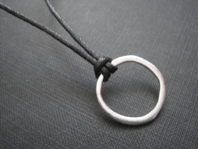 Eternity Black Cord Necklace - product images  of