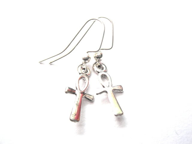 Ankh Mini Dangle Earrings - product images  of