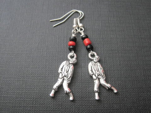 Zombie,Dangle,Earrings,Zombie Dangle Earrings, apocalypse, handmade jewelry
