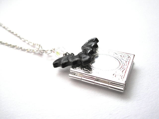 Vampire Journal Bat Locket Necklace - product images  of