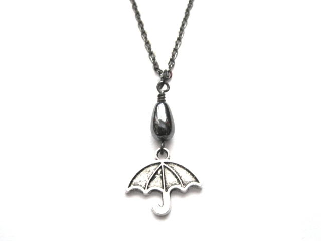Gloomy Days Umbrella Necklace - product images  of