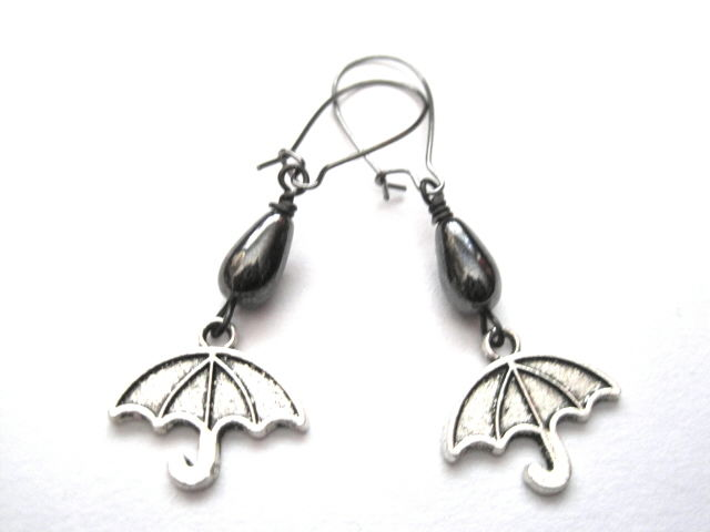 Gloomy Days Umbrella Dangle Earrings - product images  of