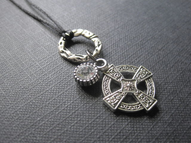 Viking Solar Cross Cord Necklace - product images  of