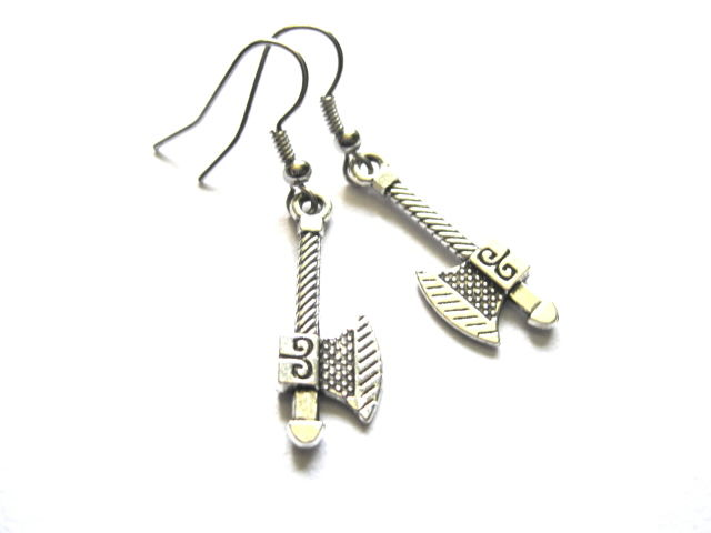 Ax Hatchet Dangle Earrings - product images  of