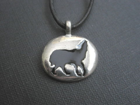 Wolf,Totem,Cord,Necklace,Wolf Totem Cord Necklace