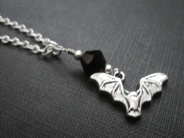 Gothic Vampire Bat Necklace - product images  of