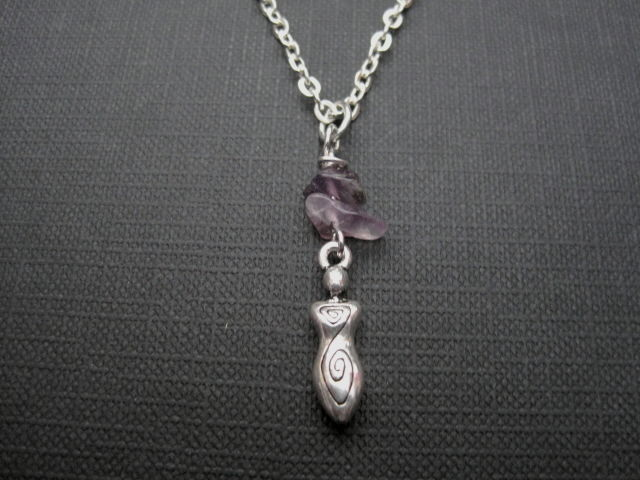 Petite Spiral Goddess Amethyst Necklace - product images  of