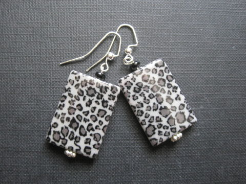 Leopard,Animal,Print,Rectangle,Dangle,Earrings,Leopard Animal Print Rectangle Dangle Earrings, wild side jewelry, handmade earrings, fashion jewelry, trendy jewelry, chic earrings