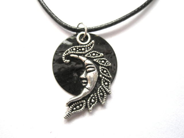 Black New Moon Witch Cord Necklace - product images  of