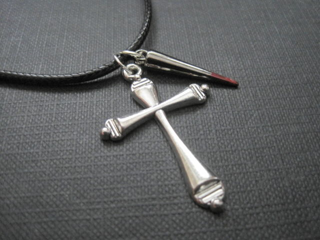 Vampire Slayer Buffy Cross Cord Goth Vampire Necklace  - product images  of