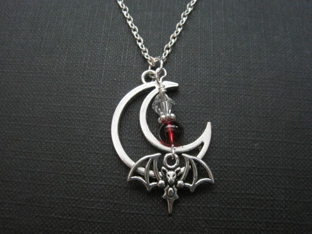 Lily Moon Bat Goth Vampire Necklace  - product images  of