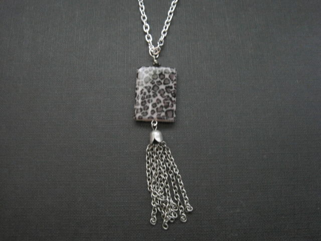 Animal Print Tassel Fashion Necklace - product images  of