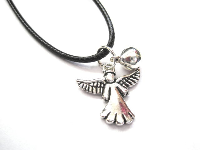 Angel Jingle Bell Cord Necklace  - product images  of