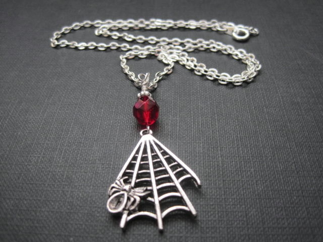 Vamp Spiderweb Vampire Necklace  - product images  of