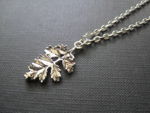 Big Oak Leaf Necklace  - product images  of
